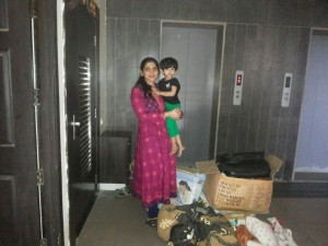 Deepa Sharma - Cloth donation