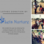 LetsNurture had the new year party of its kind with clothes donation